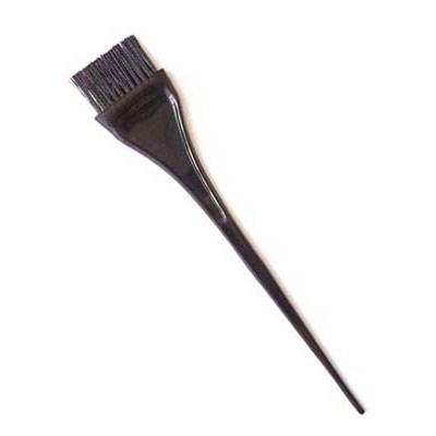 Кисть для окрашивания Dewal черная с черной волнистой щетиной узкая 40 мм