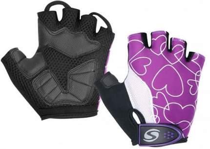 Велосипедные перчатки Stels CG-1196, бело-пурпурно-черные, 8