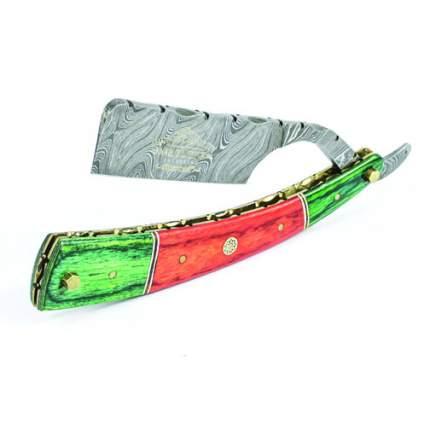 Опасная бритва Metzger Orange/Green wood, Damascus steel из дамасской стали Dr-14350