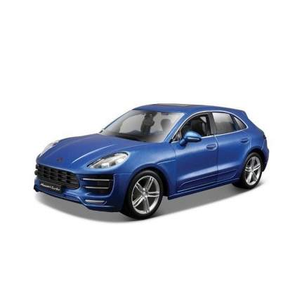"Bburago Сборная коллекционная машина 1:24 ""Porsche Macan - Metallic Blue"" синий 18-25117"