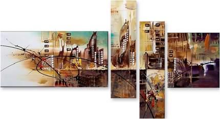 Картина модульная на холсте Модулка Город мечты 170х95 см