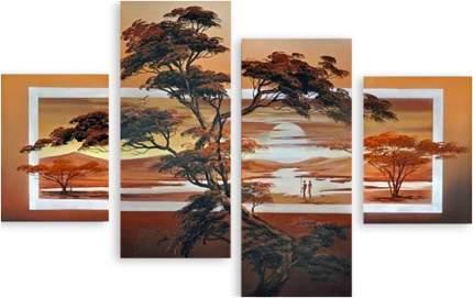 Картина модульная на холсте Модулка Африканский ландшафт 120х81 см