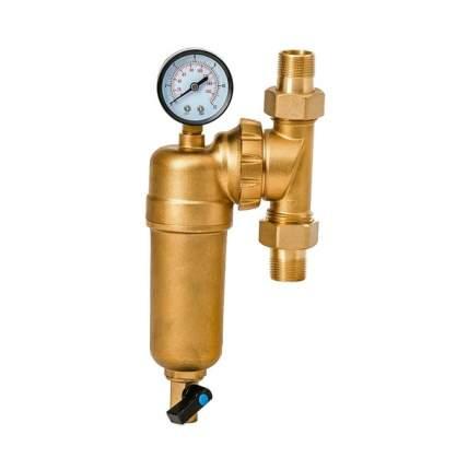 """Фильтр промывной свободного вращения с манометром ViEiR 1/2"""" для горячей воды (JH147)"""
