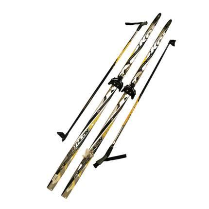 Лыжный комплект (лыжи + палки + крепления) 75 мм 195 СТЕП Skol biathlon yellow/black