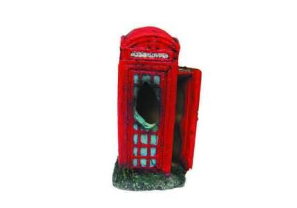 Декорация для аквариума Prime Телефонная будка мини, пластик, 4х4.5х8 см,