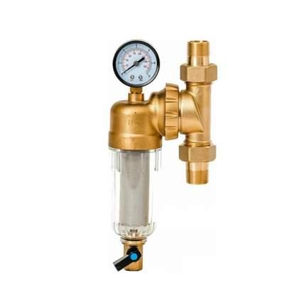 """Фильтр промывной свободного вращения с манометром ViEiR 1/2"""" для холодной воды JC148"""