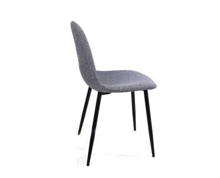 Комплект стульев (2 шт.), СтолБери, Smart, рогожка серый меланж, металлокаркас