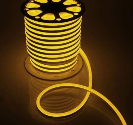 Неоновая светодиодная лента PJ Neon 4м, 8х16мм, 220В, 120 LED/m, IP 67, желтый