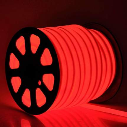 Неоновая светодиодная лента PJ Neon 4м, 8х16мм, 220В, 120 LED/m, IP 67