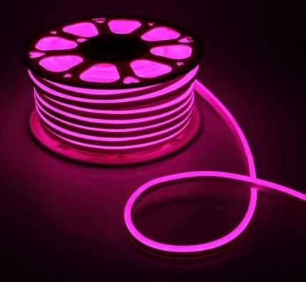 Неоновая светодиодная лента PJ Neon 5м, 8х16мм, 220В, 120 LED/m, IP 67, розовый