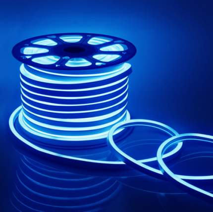 Неоновая светодиодная лента PJ Neon 10м, 8х16мм, 220В, 120 LED/m, IP 67