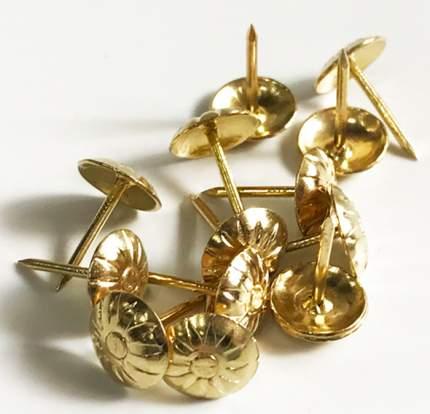 Гвозди мебельные декоративные узорные 11х15 мм, 200 шт. (Золотистый) MN-B059