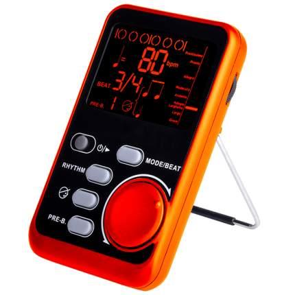 Портативный метроном, темп 30-250 ударов в минуту, оранжевый, 11,5х7х2 см, The String