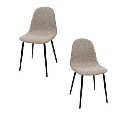 Комплект стульев (2 шт.), СтолБери, Smart, рогожка песочный меланж, металлокаркас