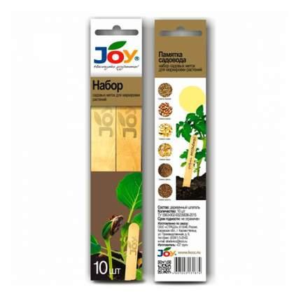 Набор деревянных садовых меток JOY, 10 шт.
