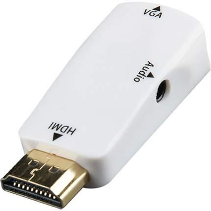Переходник Gsmin A21 HDMI - VGA+Audio White