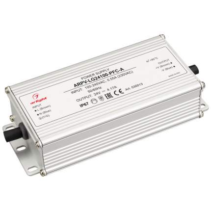 Блок питания ARPV-LG24100-PFC-A (24V, 4.17A, 100W) (ARL, IP67 Металл) Arlight