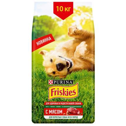 Сухой корм для собак Friskies , мясо,  10кг