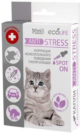 Арома-капли для котят и кошек Ms. Kiss Ecolife Анти Стресс, 10 мл, 46 гр