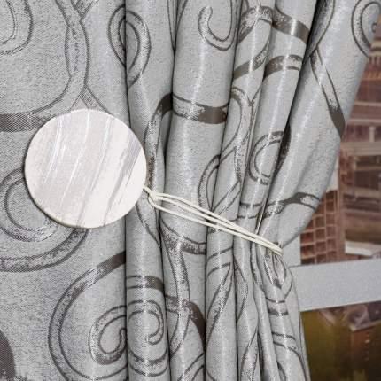 Подхват для штор магнитный Ajur MI M24-white Дерево Белый/серебряный