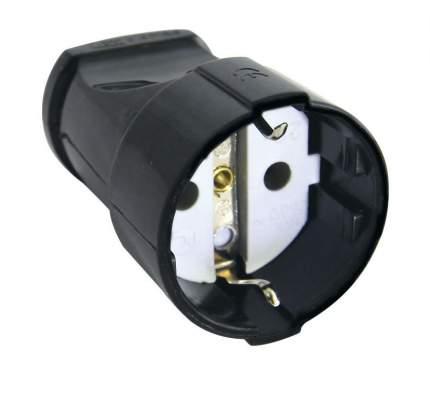 Кабельная розетка Tdm 16А 250В 2П+Заземл. Черная Sq1806-0132
