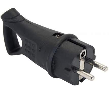 Вилка EKF 230В 2P+PE 16A IP44 EKF PROxima RPS-017-16-230-44 угловая каучуковая с кольцом