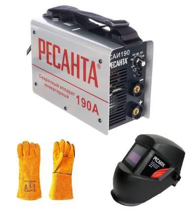 Сварочный аппарат инверторный Ресанта САИ-190, + маска МС-6 и краги