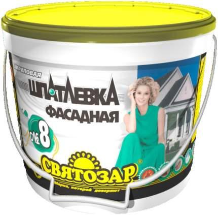 Шпатлёвка фасадная, влагоатмосферостойкая. Готовая к применению. Святозар-8. 1,2 кг