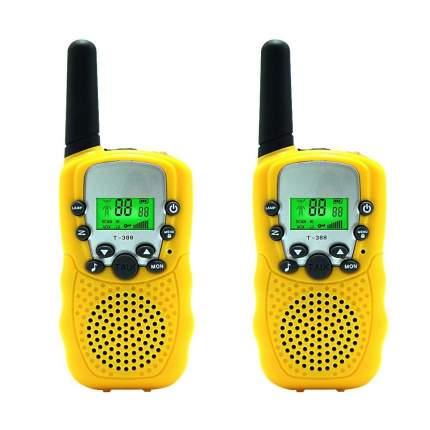 Набор 2-х портативных раций с двусторонней связью с ЖК-дисплеем детских, желтые GK0006D