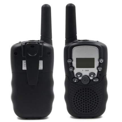 Набор 2-х портативных раций с двусторонней связью с ЖК-дисплеем детских, черные GK0006C