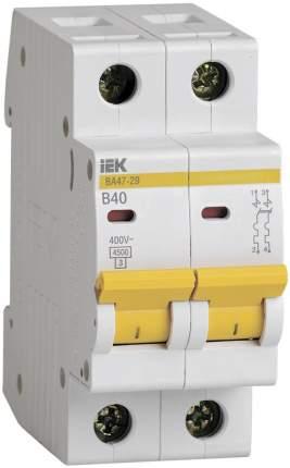 Автоматический выключатель Iek MVA20-2-040-B ВА47-29 2Р 40А 4,5кА х-ка В ИЭК