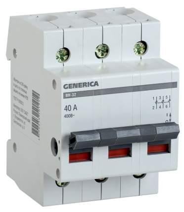 Выключатель нагрузки Iek MNV15-3-040 ВН-32 3Р 40А GENERICA мини-рубильник