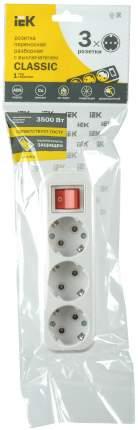 Колодка Iek KYP11-16-03-00-ZK переносная разб. с выкл. К03В 3 места