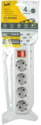 Колодка Iek KYP11-16-04-00-ZK переносная разб. с выкл. К04В 4 места