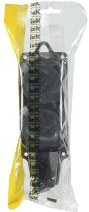 Розетка Iek PKR62-016-2-K02 РБ32-1-0м двухместная с защитными крышками ОМЕГА IP44