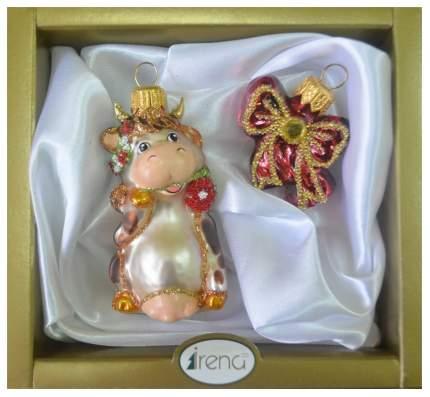 Набор елочных игрушек Символ года 8 см 2 шт. в ассортименте