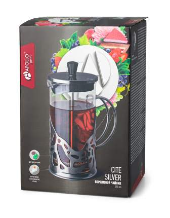 "Поршневой чайник APOLLO genio ""Cite Silver"" 350 мл"