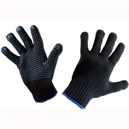 Перчатки хб с пвх 5нитей 10 класс черные 48 гр. (уп. 10 пар)