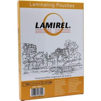 Пленка для ламинирования Lamirel A5 75 мкм глянец 100 шт