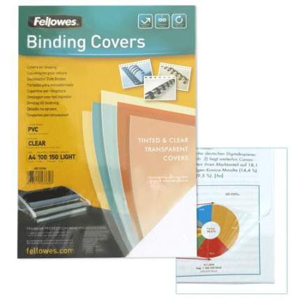 Обложка для переплета Fellowes Transparent пластиковая прозрачная 150 мкм 100 шт