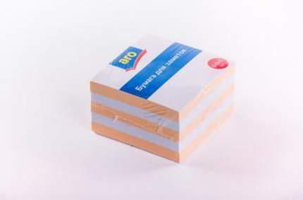 Бумага для заметок Aro блок цветной 9 х 9 х 5 см