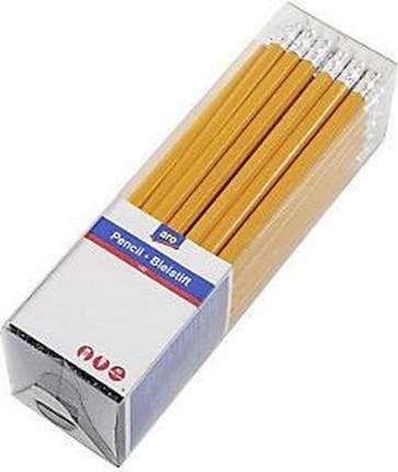 Карандаши простые Aro чернографитные с ластиком HB 2,2 мм 50 шт