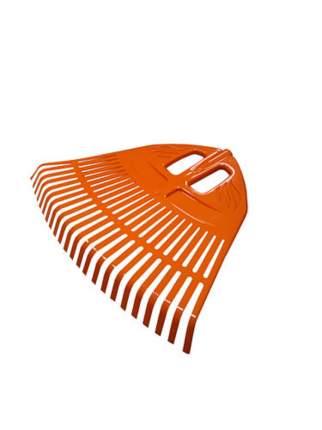 Грабли веерные пластмассовые Гардения, 23 зуба, 500 мм, оранжевый