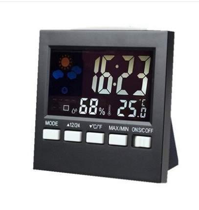 Домашний цифровой гигрометр 2emarket портативная метеостанция с цветным дисплеем (3974.2)