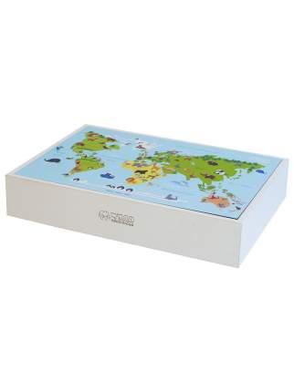 Световой чудо-планшет + песочница с крышкой Карта мира ППКМ