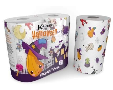 "Полотенца бумажные ""Helloween"", Kartika Collection, 2-х слойные, 2 рул/70 л, World Cart"