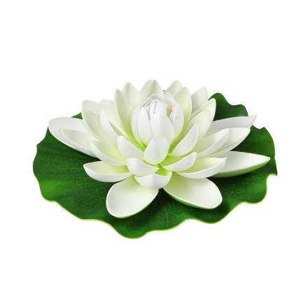 Садовая фигурка Heissner 001121-00 Кувшинка 28 см белая
