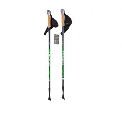 Палки для скандинавской ходьбы Finpole Nova, черный/зеленый, 83-135 см