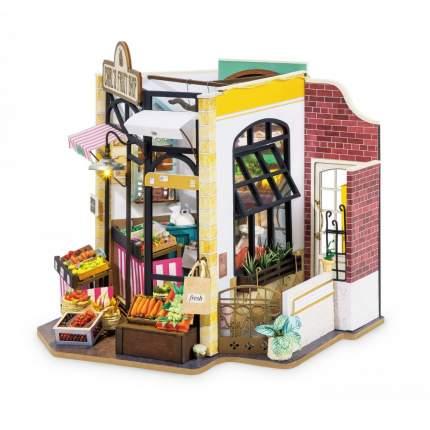 Деревянный конструктор Robotime Миниатюрный дом Фруктовая лавка Карла