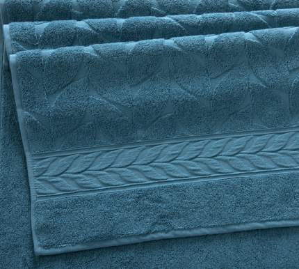 "Полотенце Махровое ""Совершенство серо-голубой"" 70х140 плотность 550 г/м2 Barcac"